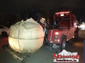 Impounded Pumpkin being moved by towing company