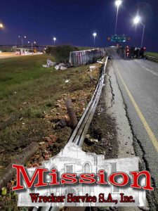 Survey damage from semi crash