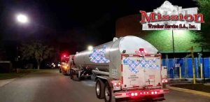 Tanker being pulled by San Antonio Towing Service