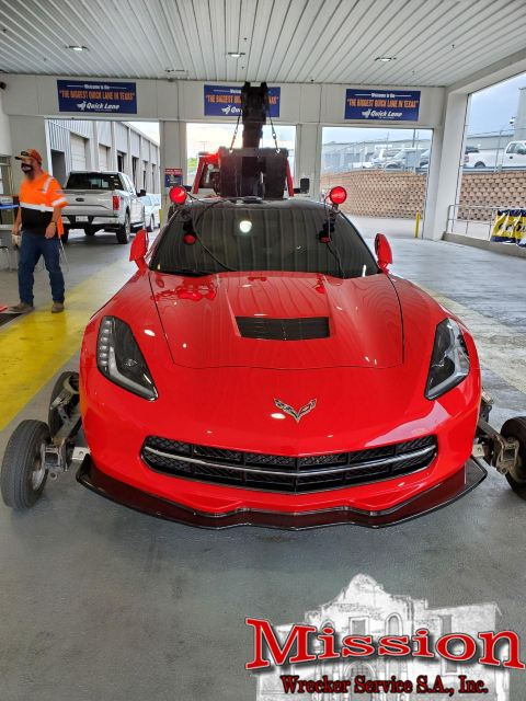 Heavy Tow Service Lends $60,000 Corvette a Set of Wheels